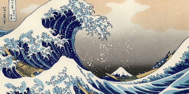 Bức tranh Sóng lừng ở Kanagawa Nhật Bản