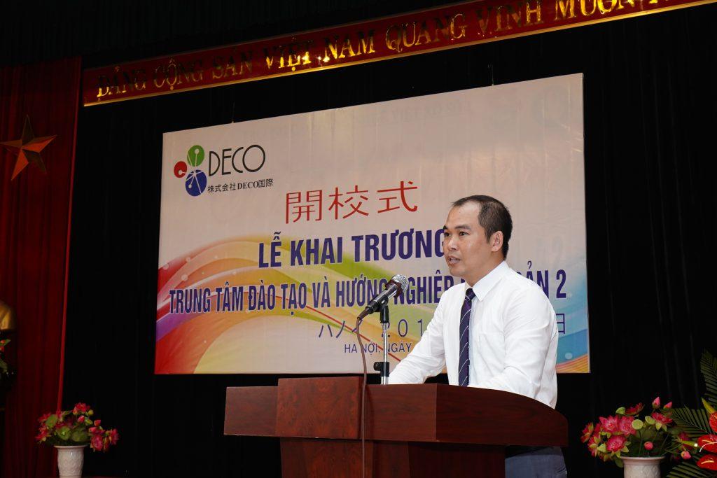 Ông Lương Hồng Bắc, TGĐ công ty khắng định mục tiêu TOP 5 của DECO